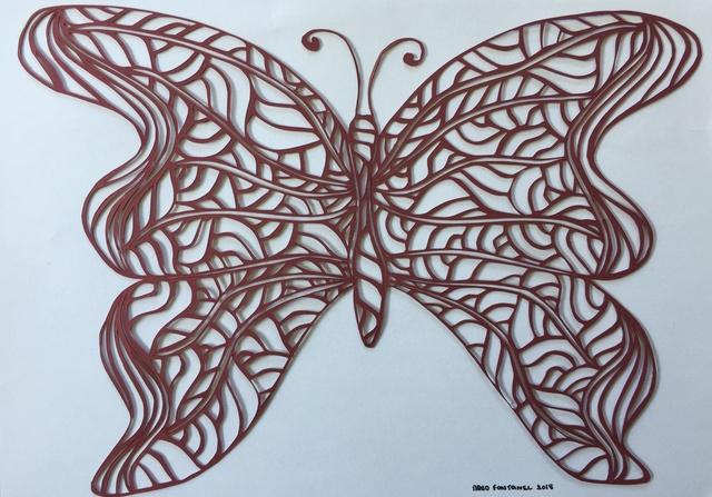 papillon 21 cm x 29,7 cm