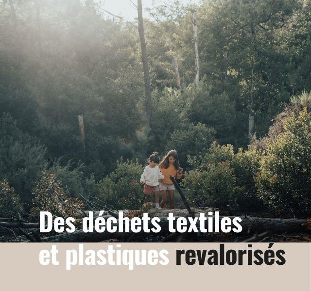 Des dechets textiles et plastiques revalorises