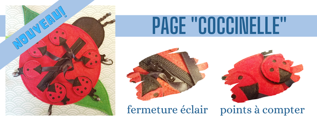 """PAGE """"'COCCINELLE' II fermeture eclair points a compter"""