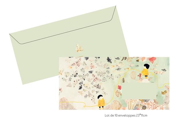Lot de 10 enveloppes 23*11cm