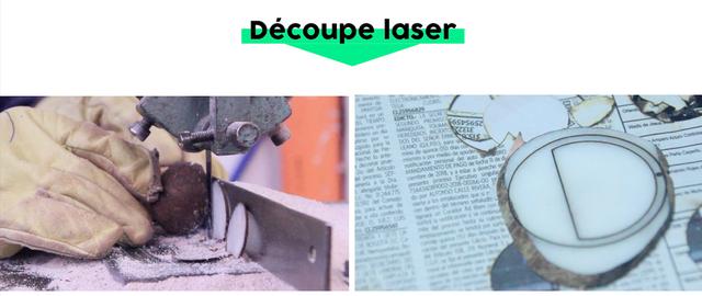 Découpe laser de l'ivoire végétal - Mazonia