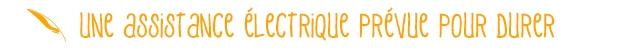 UNe assistance eLectRiQue PRevue POUR DUReR
