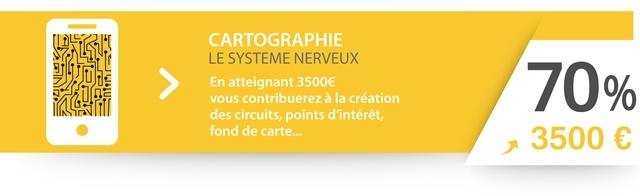 En atteignant 3500€ (70%) vous contribuerez à la création des circuits, points d'intérêt, fond de carte...