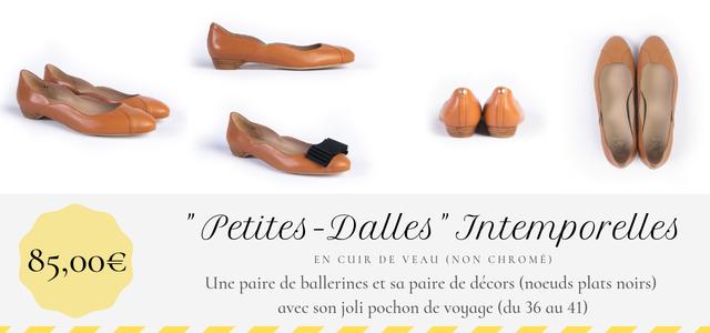 ballerine Petites-Dalles Intemporelles Maison Castille couleur caméléon cuir lisse