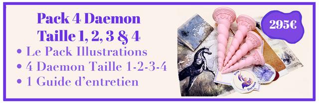 Pack 4 Daemon 2956 Taille ,2,3 , 8 4 Le Pack Illustrations 4 Daemon Taille 1-2-3-4 1 Guide d'entretien