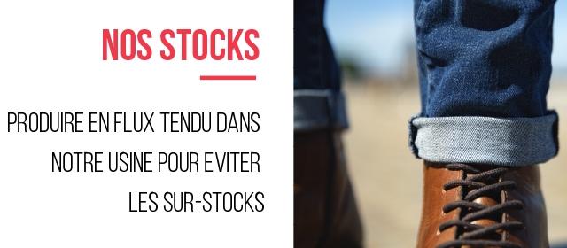 NOS STOCKS PRODUIRE ENFLUX TENDU DANS NOTRE USINE POUR EVITER LES SUR-STOCKS