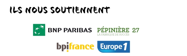 ILS NOUS SOUTIENNENT BNP PARIBAS PEPINIERE 27 LA FABRIQUE DE SUCCES bpifrance Europe