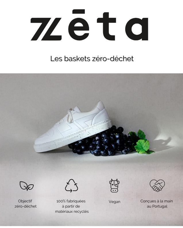 t Les baskets zero-dechet Objectif 100% fabriquees Vegan Concues a la main zero-dechet a partir de au Portugal materiaux recycles