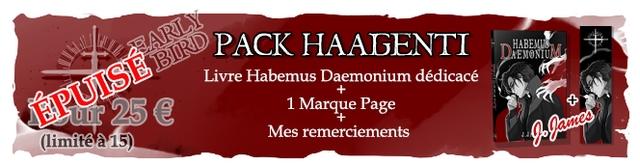 PACK HAAGENTI Livre Habemus Daemonium dedicace + 25 1 Marque Page Mes remerciements
