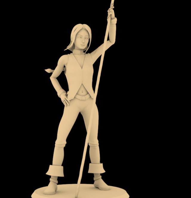 Les essais de la figurine d'Aila