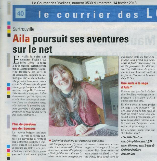 La presse s'accapare de la saga d'Aila - Le Courrier des Yvelines, numéro 3530 du 14 février 2013, page 40