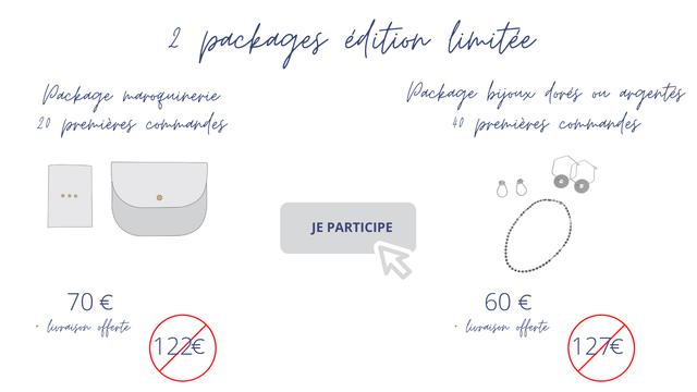 2 edition limitee 20 40 JE PARTICIPE 70 € 60 + offerte + offerte 127€