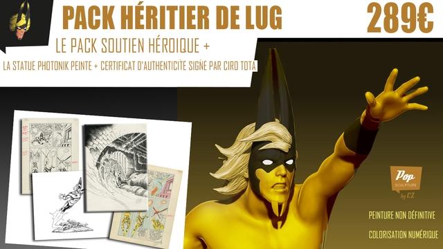 PACK HERITIER DE LUG 289C LE PACK SOUTIEN HERDIQUE + LA STATUE PHOTONIK PEINTE + CERTIFICAT D'AUTHENTICITE SIGNE PAR CIRO TOTA Pop SCULPTURE by CZ PEINTURE NON DEFINITIVE NUMERIQUE