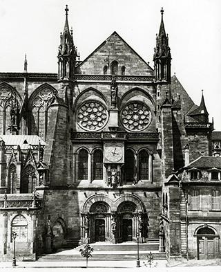 Bras sud du transept, entre 1862 et 1870