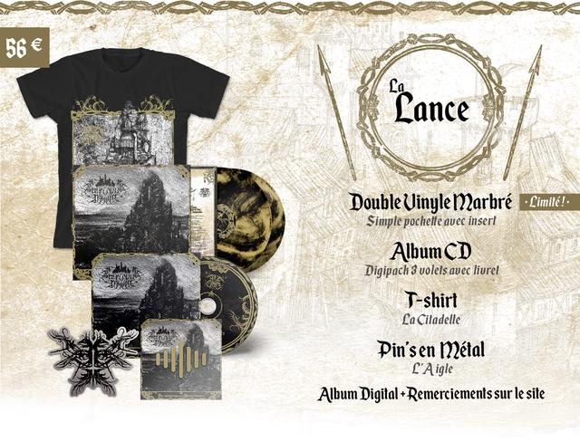La Lance Double Uinyle Marbre Limite! Simple pochelte avec insert Album CD Digipach 3 volels avec liurel T-shirt La Ciladelle Pin'sen metal F'Aigle Album Digita +Remerciements sur le site