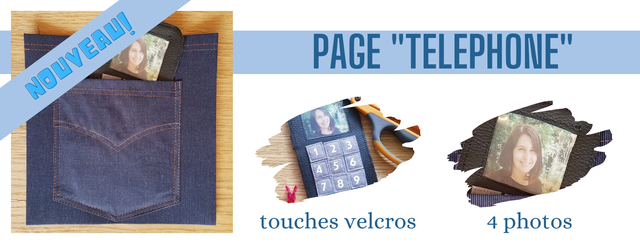 PAGE 'TELEPHONE II touches velcros 4 photos