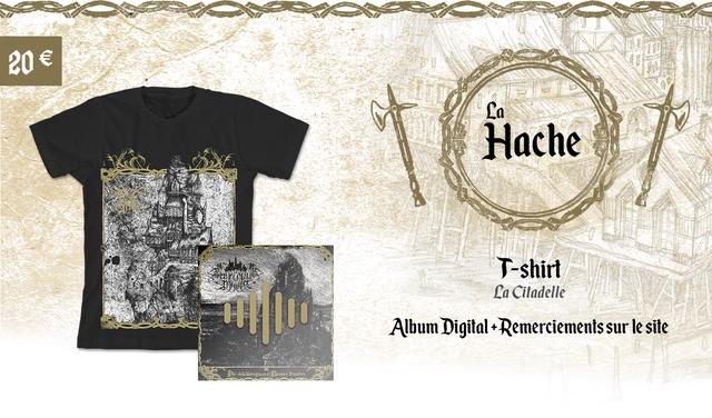 20e La Hache T-shirt La Citadelle Album Digital l+Remerciements sur le site laNoireglacese Sinistres