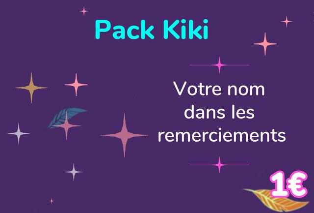 Pack Kiki Votre nom dans les remerciements