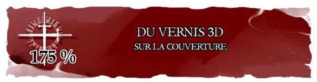 DU VERNIS 3D SUR LA COUVERTURE 175 %
