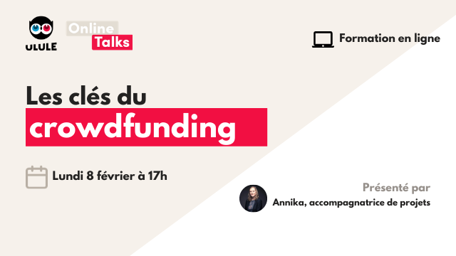 Formation au crowdfunding - Lundi 8 février à 17h