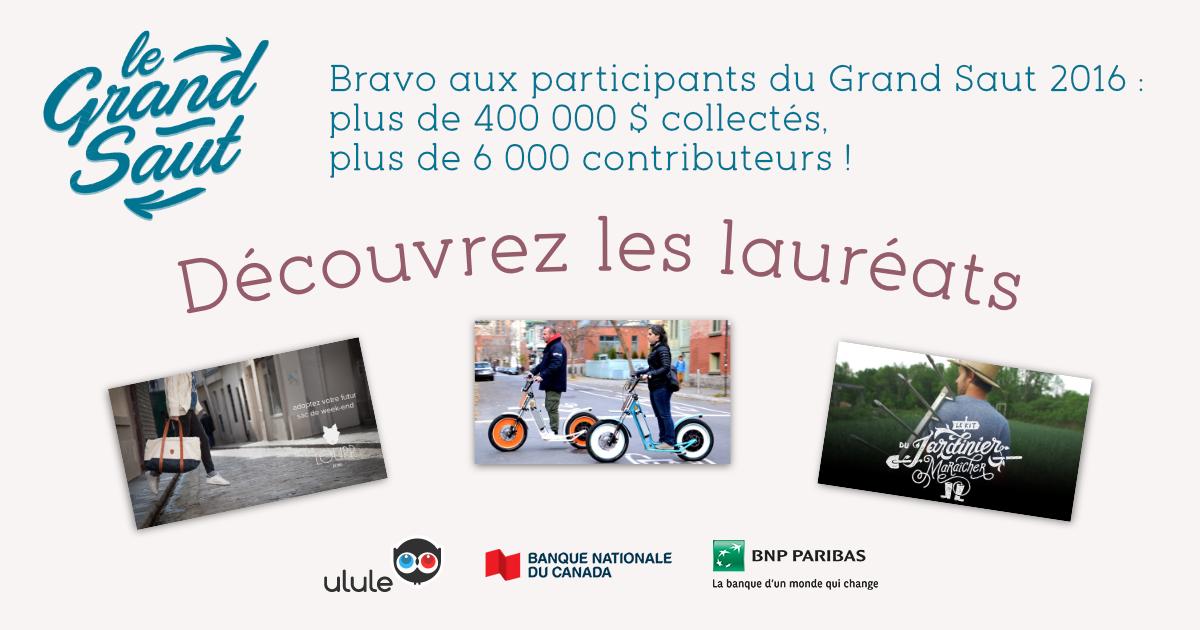 Bravo aux laureats 2016